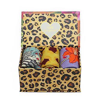 Powder Ankle Socks 3 Gift Box | Blooming Jungle