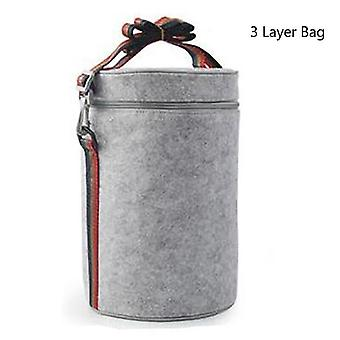 Three-layer Leak-proof Lunch Box, Outdoor Portable Food Storage Container,
