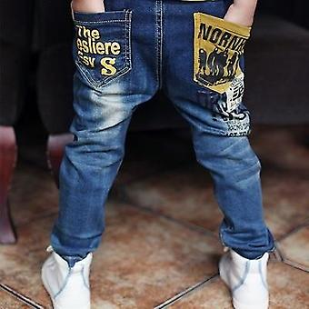 Lente/herfst Baby Letter Stitching Casual Jeans Broek
