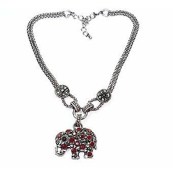 Dazzling Elephant Necklace