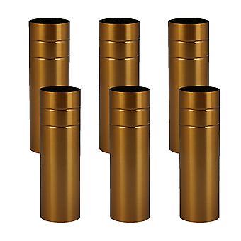 6x Couvercle de lumière de base Candelabra pour pendentif européen de 8 cm de longueur