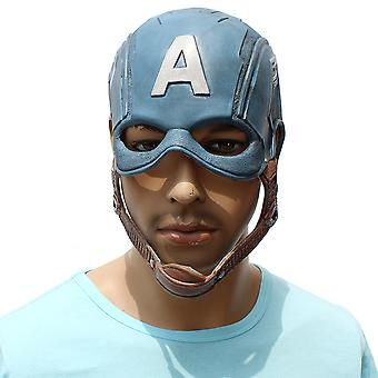Captain America Latex Mask Halloween Festival Party Rekwisieten
