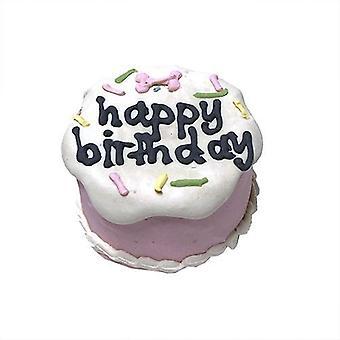 Vaaleanpunainen syntymäpäivä vauvan kakku (hylly vakaa)
