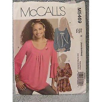 McCalls ompelu kuvio 5469 misses tunika koko XS-MD leikkaamaton