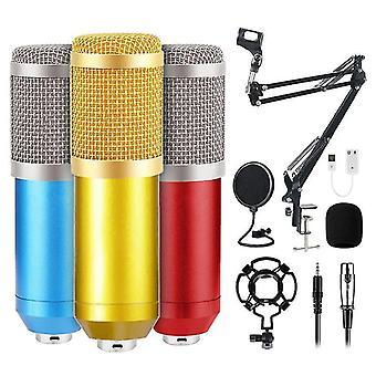 Usb микрофон три цветовых набора с cantilever поддержки ударной установки микрофон комплект для ПК компьютер профессиональный микрофон студии