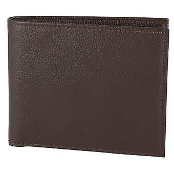 David Aster RFID Lined Billfold Wallet - Brown