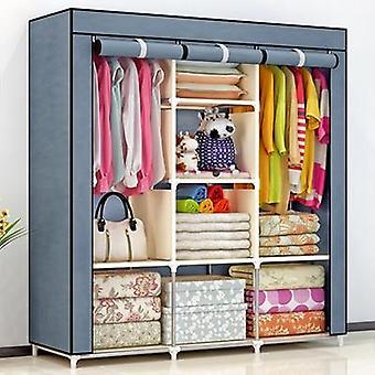 Vlies Falt eportable Lagermöbel, Viertel Kleiderschrank Schrank Schlafzimmer