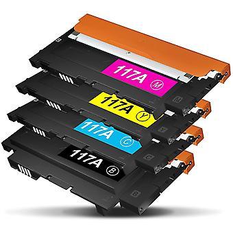 HanFei 117A Toner, Kompatibel HP 117A W2070A W2071A W2072A W2073A, mit Chips, Kompatibel mit HP Color