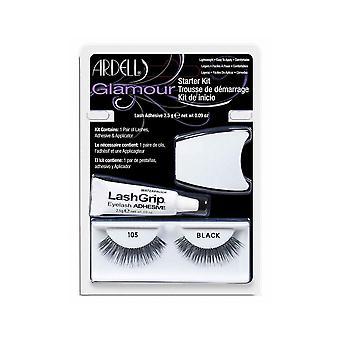 Ardell Fashion 105 Lash Starter Kit Glamour Look Strip Eyelashes With Glue