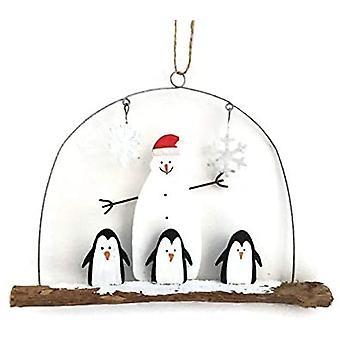 Penguin and Snowman Christmas Hanger