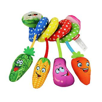 Vegetables Pram Crib Toy With Bb Device Ic Music Bell Lovely Baby Spiral Toy Plush Activity Spiral