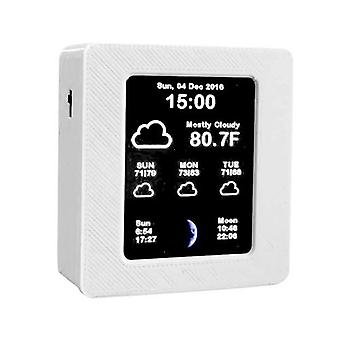 Household Intelligent Wifi Weather Report Clock Time Data Tempearture Display with 2.4inch TFT Color Screen