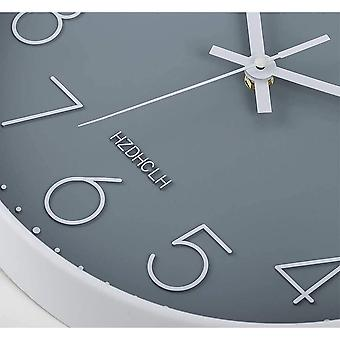 Gerui Wall Clock Silent Non Ticking - 12 Inch Quality Quartz Round Easy to Read for Home/Office/School