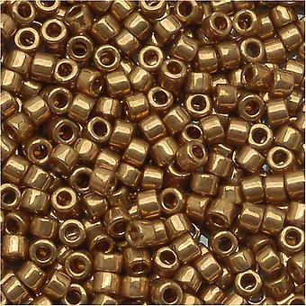 Miyuki Delica Beed Beads, Tamaño 11/0, 7.2 Gramos, Metallic Lt Bronze DB022L
