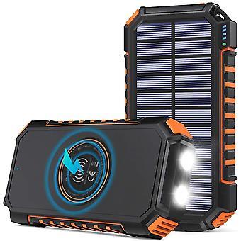 FengChun Wireless Solar Powerbank 26800mAhEs Solar Ladegerät USB C Externer Akku mit 4