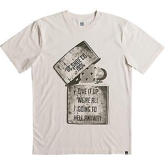 DC Dead boven korte mouwen T-shirt in antiek wit
