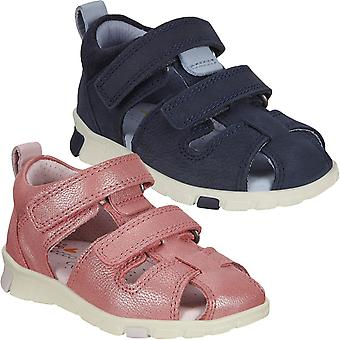 ECCO Kids Mini Stride Fisherman Leather Hook And Loop Outdoor Trail Sandals