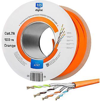 100m CAT.7a Netzwerkkabel LAN Kabel Verlegekabel AWG 23 Reines Kupfer S/FTP PiMF LSZH Halogenfrei