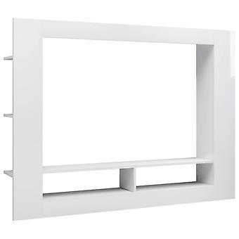 vidaXL TV kast hoogglans wit 152 x 22 x 113 cm spaanplaat