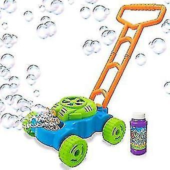Hand push automatic music bubble car, electric outdoor bubble blowing tank car az16966