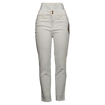 IMAN Global Chic Women's Jeans Luxury Resort 360 Slim Skinny White 685778