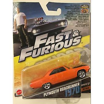Fast &Furious 7 1970 Plymouth Roadrunner 1:55 Échelle Mattel FCF37 2017