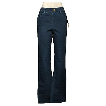 IMAN Global Chic Vaqueros para Mujer Pull On Bootcut Blue 734928L0X