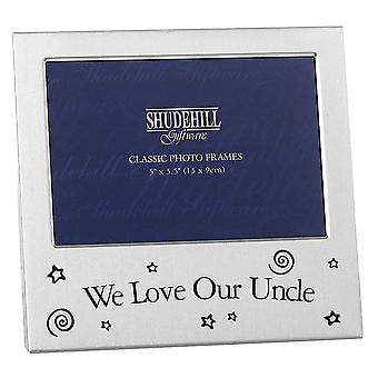 Joe Davies Satin Silver Vi älskar vår farbror 5 x 3.5 fotoram 73593