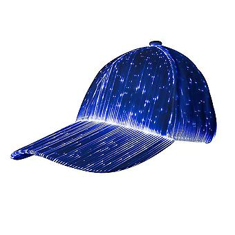Led Baseball Cap 7 Colors Glow Hat Light Up Caps For Music Party Club(White)