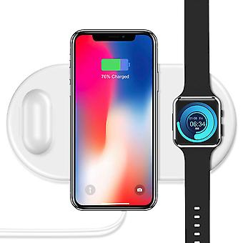 Zikko Zw8001 Charger Wireless Intelligent Fast 3in1 For Iphone X / Samsung S9 / Airpods