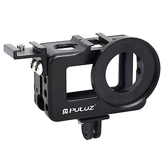 PU331B Housing Cage Protective Case Frame Shell with Cold Shoe Mount for DJI OSMO Action Sports