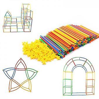Rainbow Toyfrog Straw Constructor Stem Building Toys(300PCS)