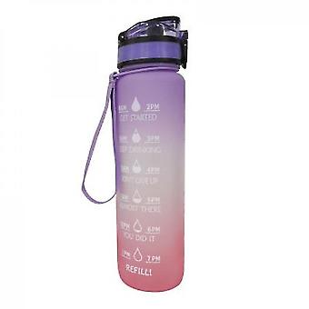Water Bottle With Time Marker & Straw  Water Bottles With Times To Drink(Purple Orange)