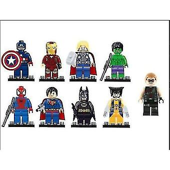 Ninjago Mini Figures Kai Jay Sensei Wu Master Fit Lego Building Blocks Toy(9pcs)