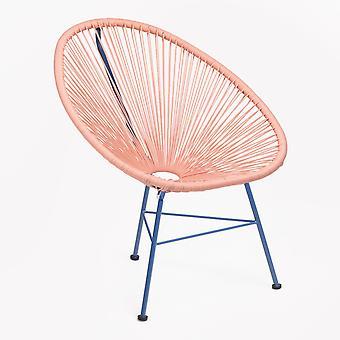 SKLUM Stoel New Acapulco Limited Edition Polyethyleen - staal Dahlia - Klein blauw