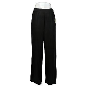 WynneLayers av MarlaWynne Dame Bukser Reg Modal Wide-Leg Black 618313