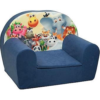 Luxus Hochstuhl - Kindersessel - Sofa - 60 x 45 - dunkelblau - Madagaskar