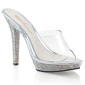 Fabulicious Women's Chaussures LIP-101DM Clr/ Slv Multi RS