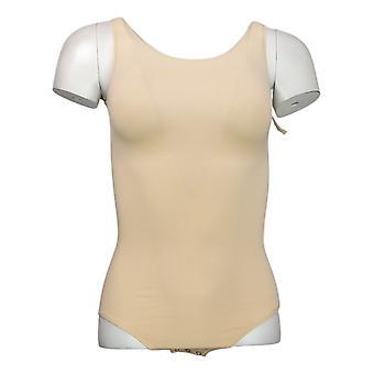Yummie Shaper Seamless Full Back Tank Body Suit Beige 607672