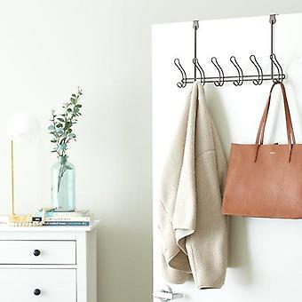 Mainstays Classico Over-The-Door Coat Rack with 6 Hooks, Bronze, Metal