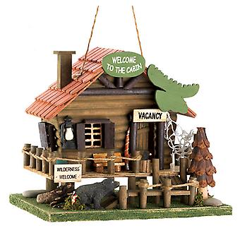 Songbird Valley Log Cabin Bird House, Pack of 1
