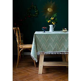 مفرش المائدة نمط موجة تاسل جاكار مناسبة لطاولة الطعام مستطيلة (4 ألوان)