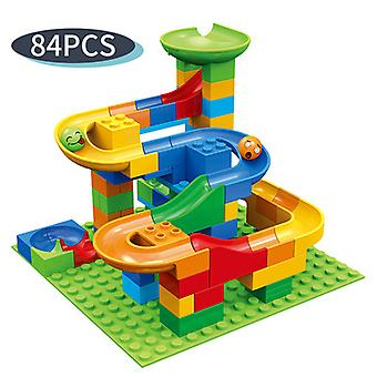 84pcs Building Blocks With Ball Track