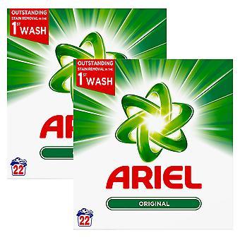2 x 22 washes Ariel Original Laundry Washing Powder Clean Clothes