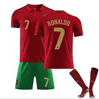 Portugalia Acasă și în deplasare Nr. 7 Cristiano Ronaldo Jersey trei piese Suit-1