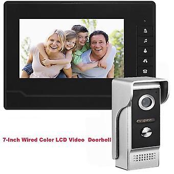 Aparat foto cu Night Vision Interfon Soneria Doorbell Color LCD 7 inch Sistem-negru
