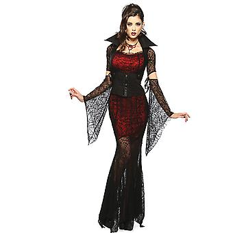 Sexy Lace Dress Vampire Costume Witch Game Halloween Party Evil Queen Uniform