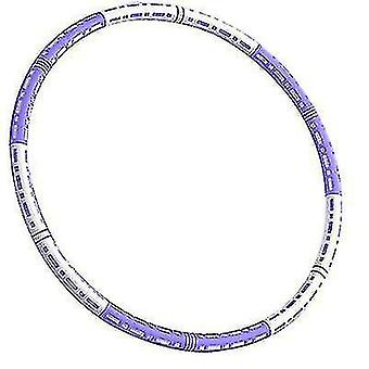 6 узлов Регулируемый вес Хула Хупы для взрослыхбелый фиолетовый