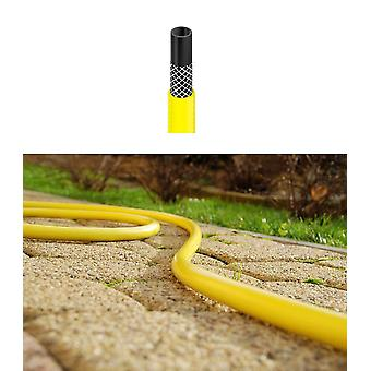 "Flexible Three Layer Garden Yellow Hose Hosepipe 30-70m Length 1/2""-1"" Diameter"