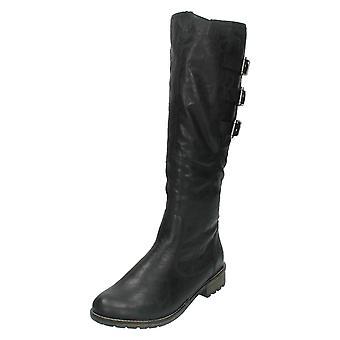 Senhoras Remonte alto perna motociclista estilo Boot R3370